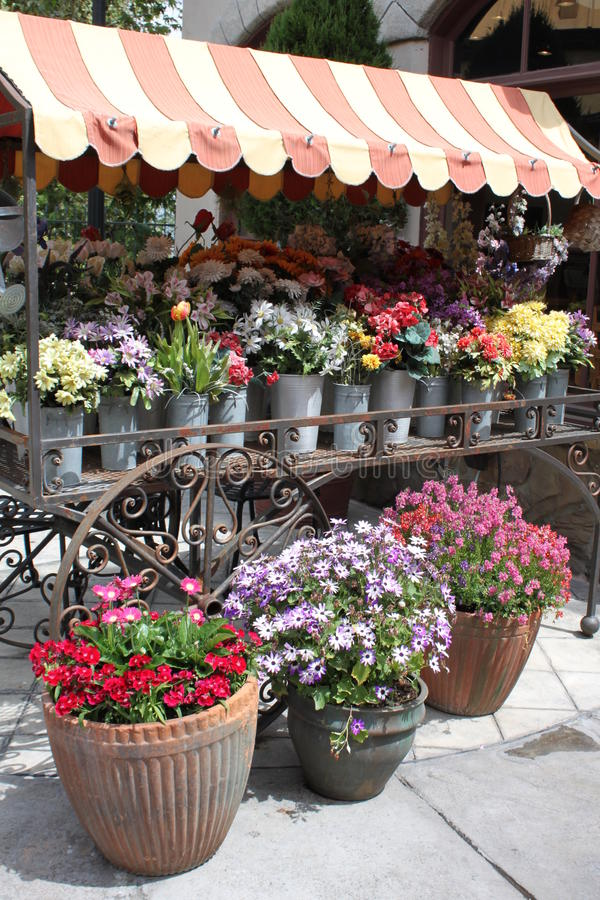 Free Flower Stall Royalty Free Stock Photography - 21312217