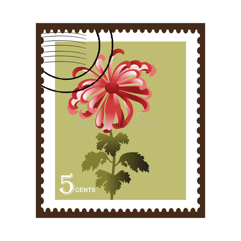 Flower stamp vector illustration
