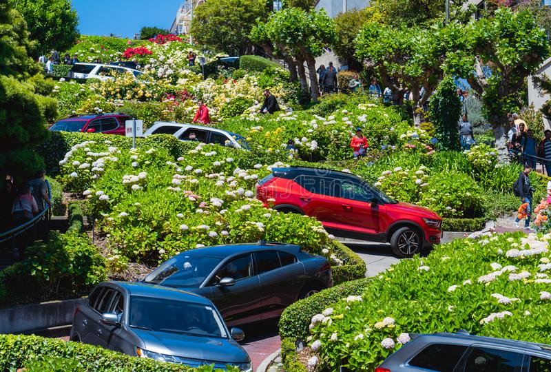 Flower Street at san francisco stock photo