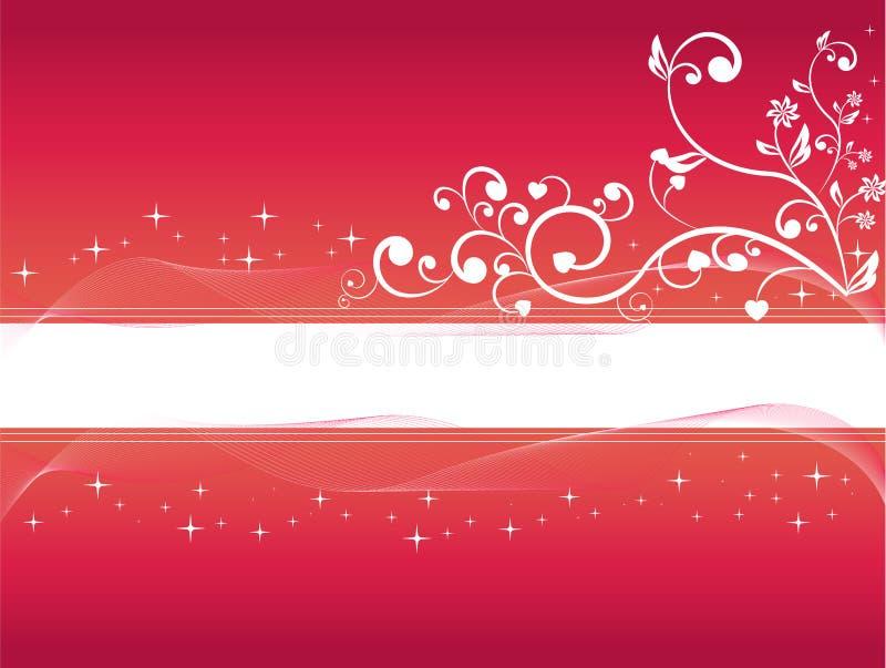 Flower swirls with stars vector illustration