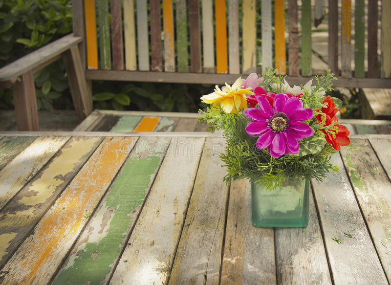 Flower on table stock image