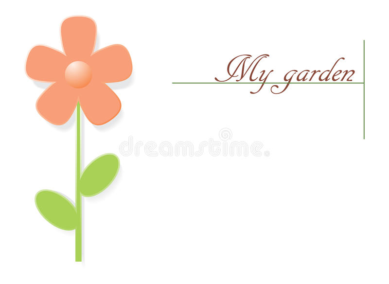Download Flower and text stock vector. Illustration of beautiful - 18359165