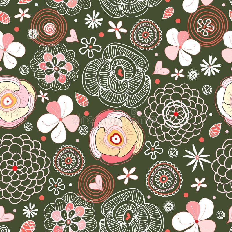 Flower texture royalty free illustration