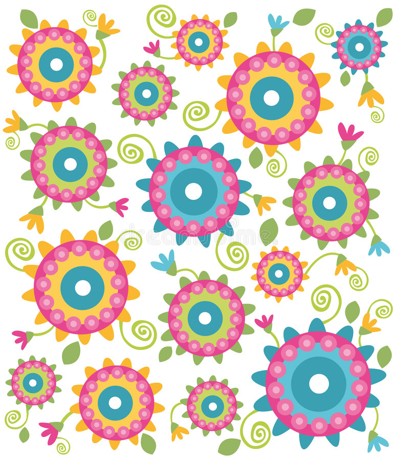 Flower texture. Illustration of flower texture multi-coloured
