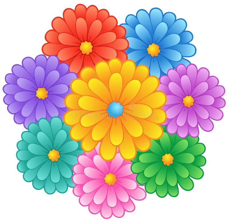 Download Flower theme image 1 stock vector. Image of ornamental - 22875633