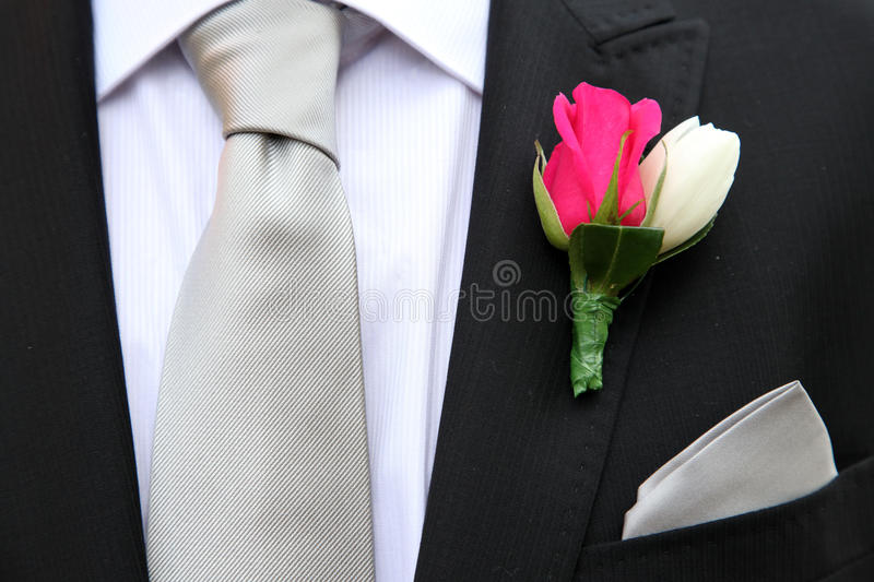 Flower and Tie royalty free stock photography