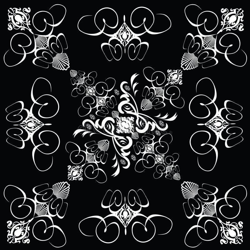 Download Flower tile gothic 4 stock illustration. Image of black - 1677958