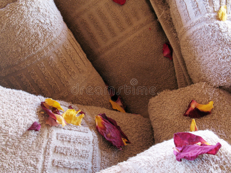 Flower towels royalty free stock images