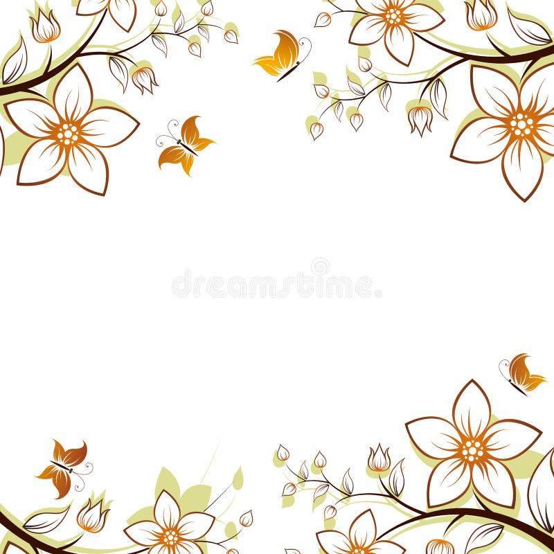 Flower tree frame royalty free stock photos