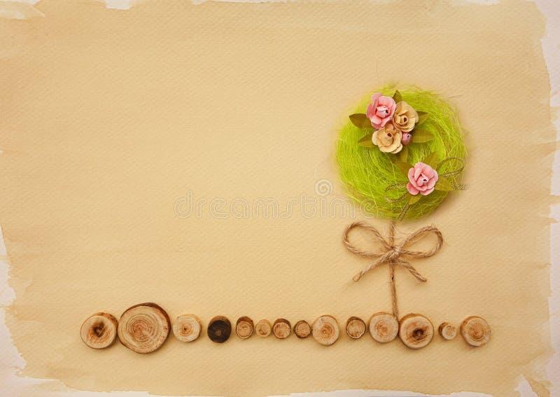 Flower tree landscape scrapbook background royalty free stock photography