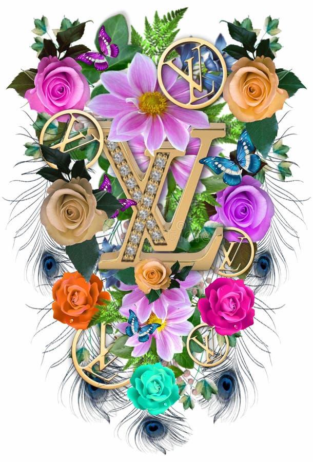Flower tropical ornamen LV 34 royalty free stock photos