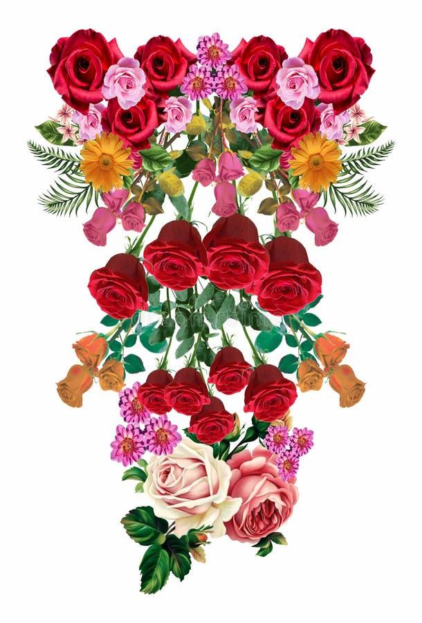 Flower tropical ornamen 35. Tropical flower decorations design ornaments pattern fresh color stock illustration