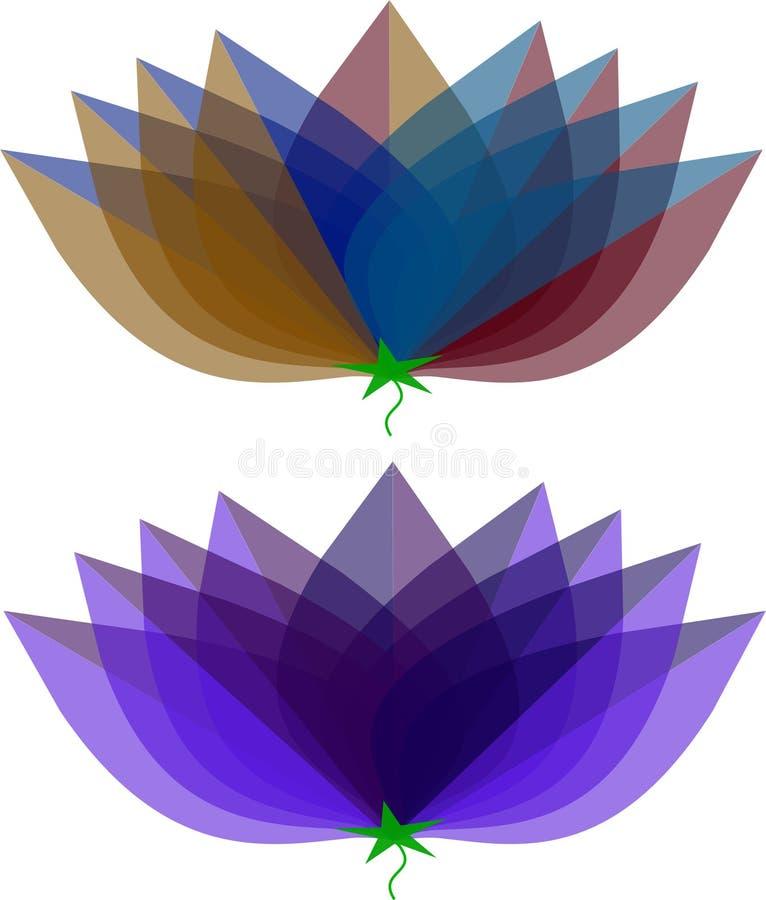 Flower type logos royalty free stock image