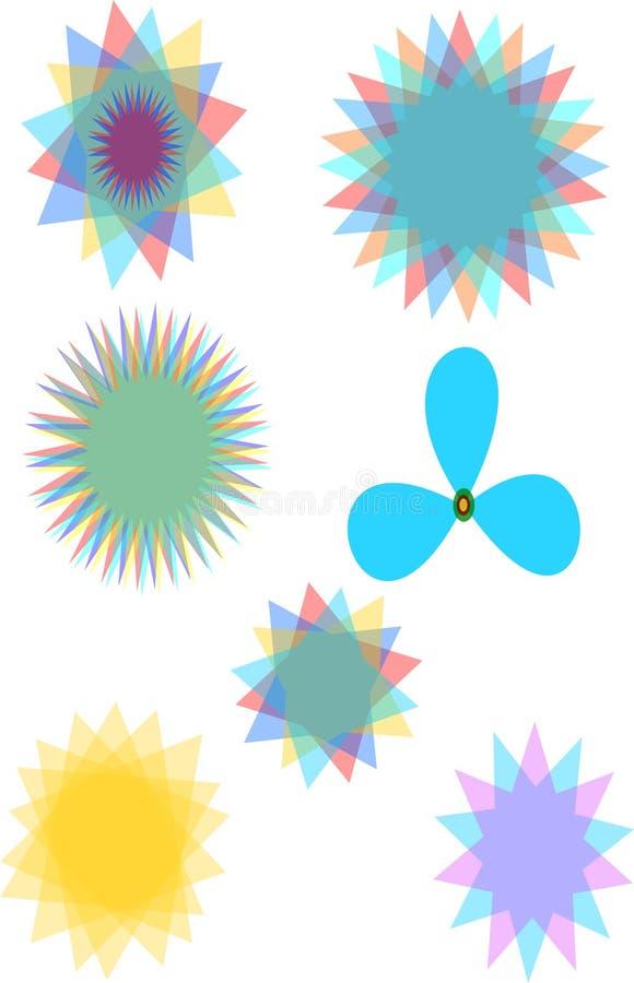Flower type logos stock photo