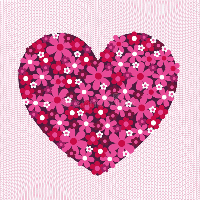 Flower Valentine Heart Pattern on Lace royalty free stock image