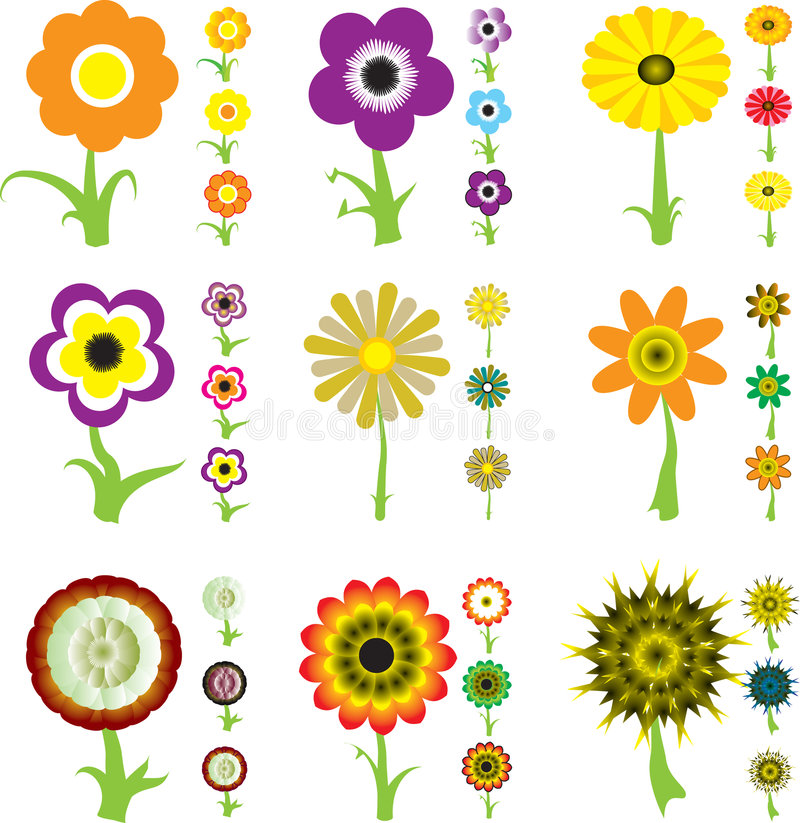 Download Flower variation stock vector. Illustration of abstract - 2439748