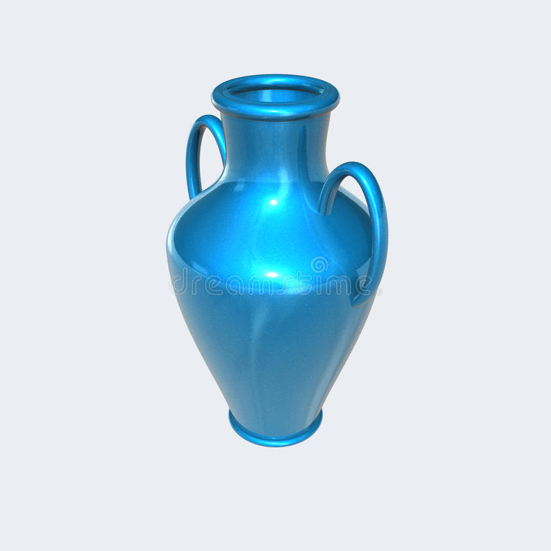Flower vase. 3d image of a flower vase stock illustration
