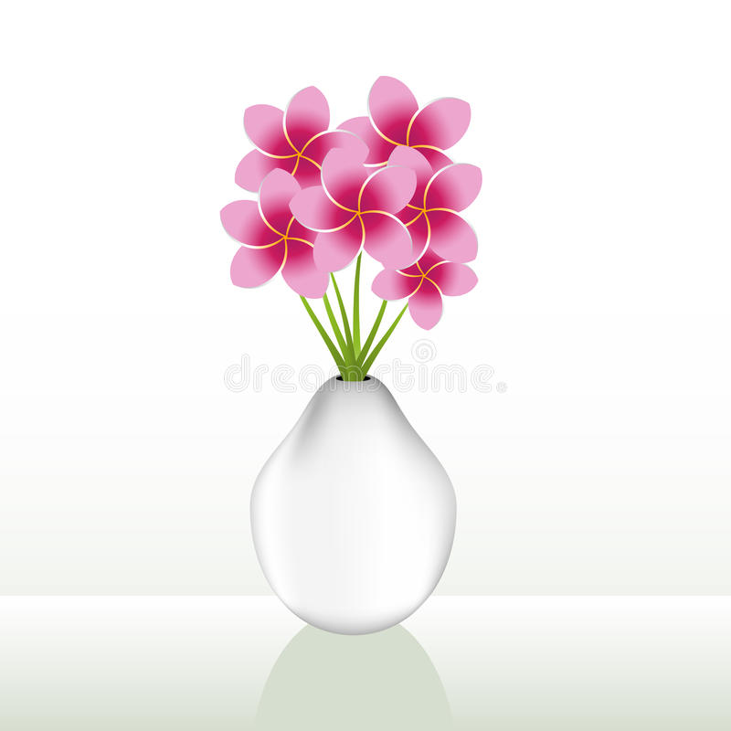 Download Flower Vase stock vector. Illustration of pink, blossom - 21576542