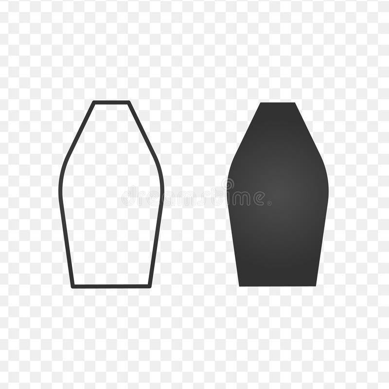 Flower vase flat and linear icon, vector illustration isolated on transparent background. vector illustration