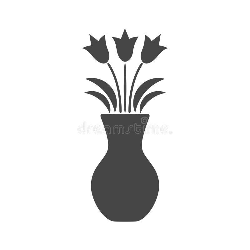 Flower in vase icon - vector Illustration vector illustration