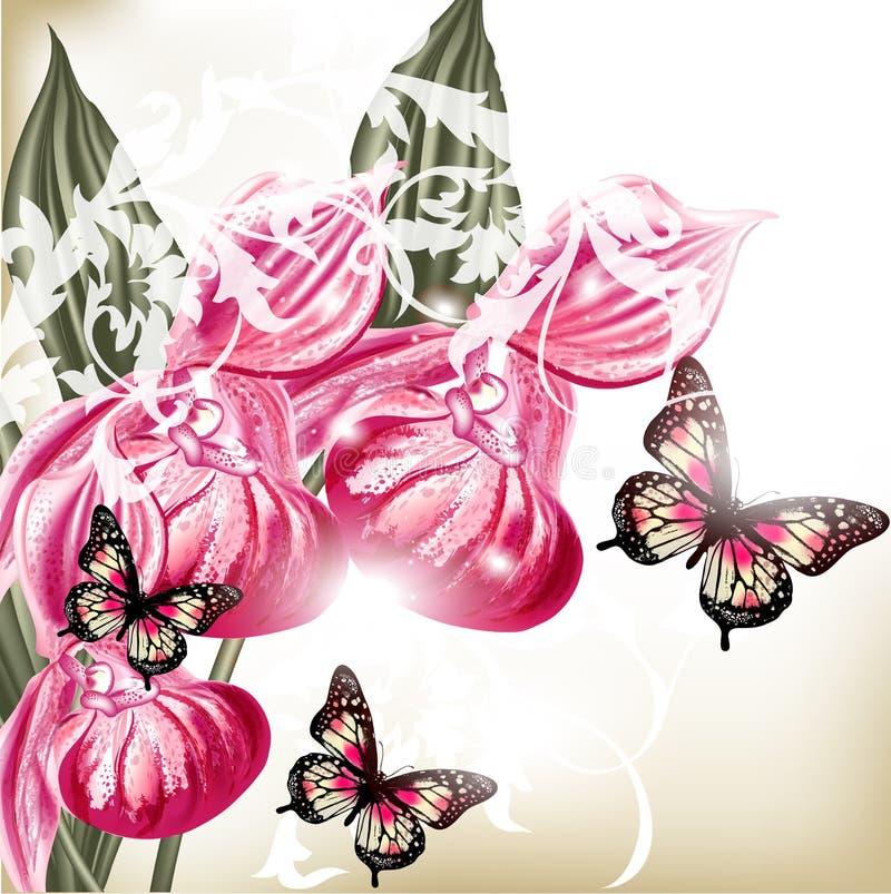 Flower vector background stock illustration