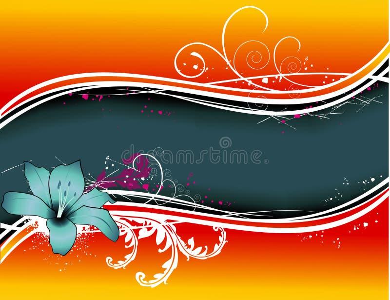 Flower vector background royalty free illustration