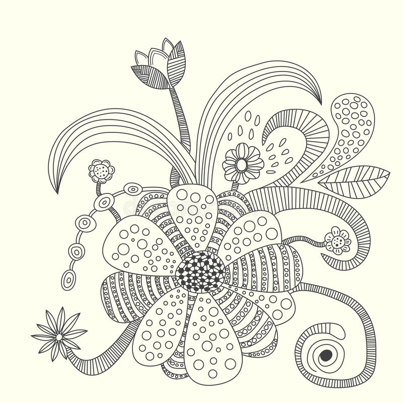 Flower vector illustration royalty free stock images