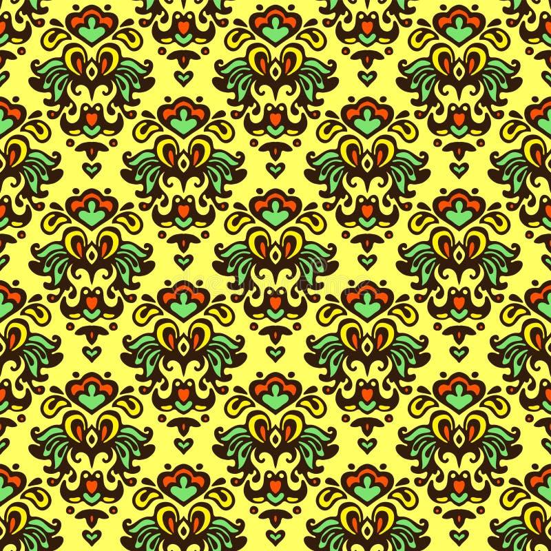 Free Flower Vector Pattern Damask Summer Stock Photos - 38443813