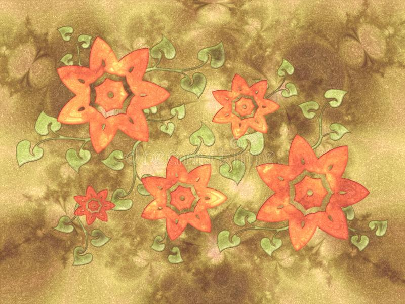 Flower Vine Collage Texture royalty free stock photo