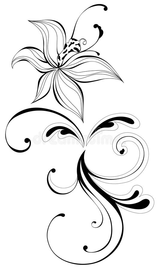 Download Flower and vines pattern stock illustration. Image of classical - 12332559