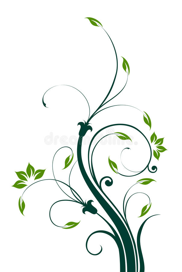 Flower and vines pattern vector illustration
