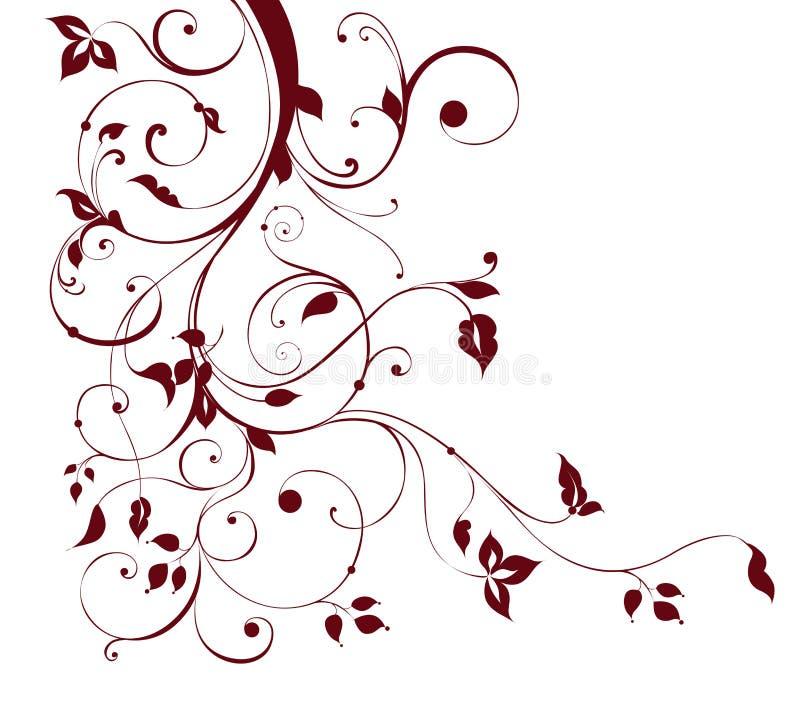 Flower and vines pattern stock illustration