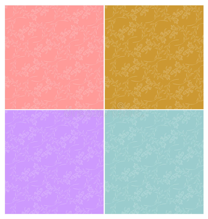 Flower vintage background. Flower pattern on colour background vector illustration
