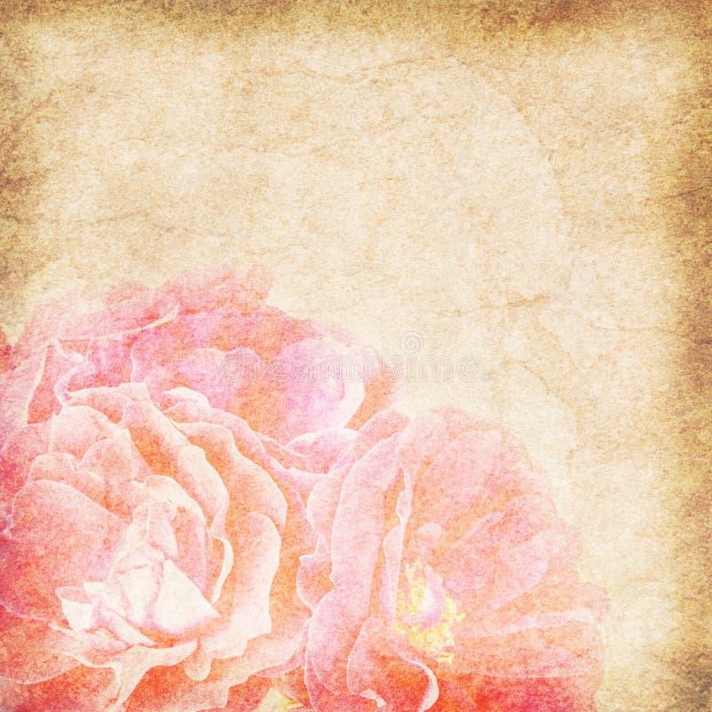 Download Flower Vintage Paper Background Stock Illustration