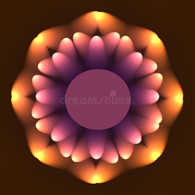 Download Digital  mandala stock illustration. Illustration of decorative - 35435396