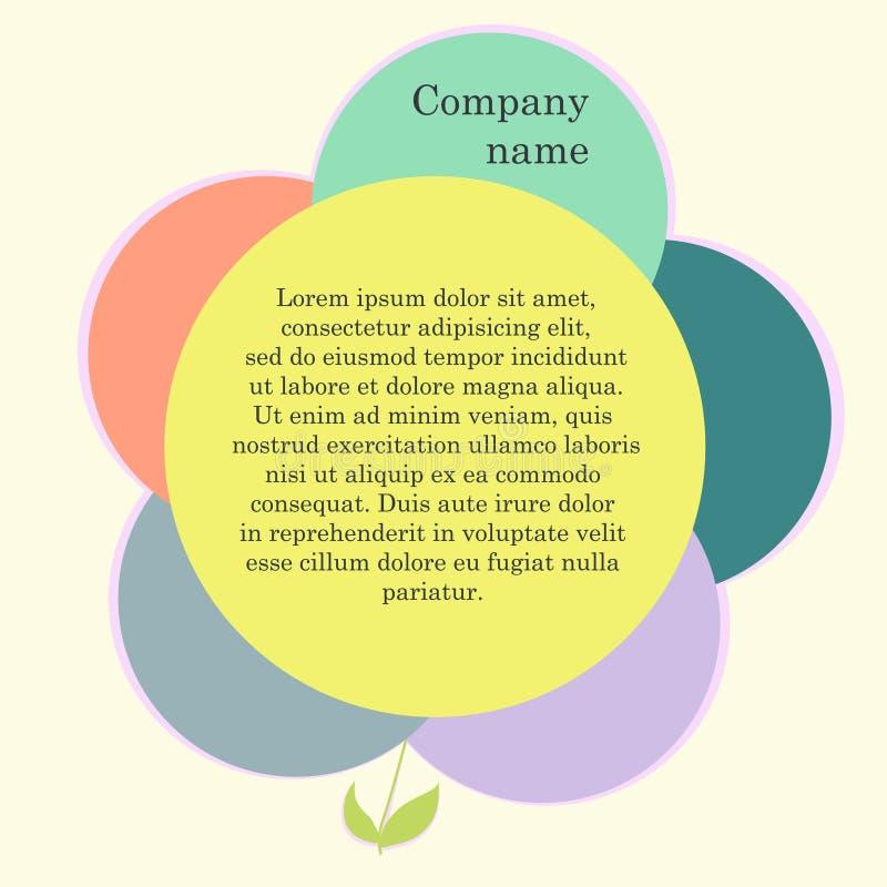 Flower web design stock illustration