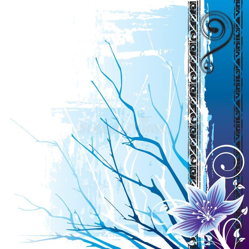 Download Flower Winter stock vector. Illustration of texture, blue - 6560490