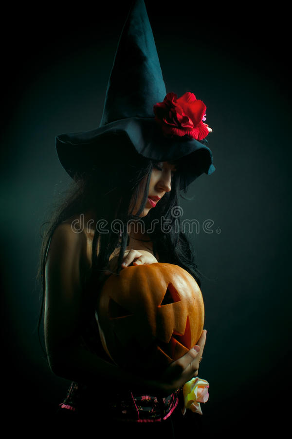 Flower witch stock photography