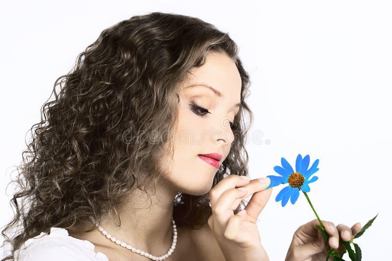 flower woman στοκ φωτογραφίες με δικαίωμα ελεύθερης χρήσης