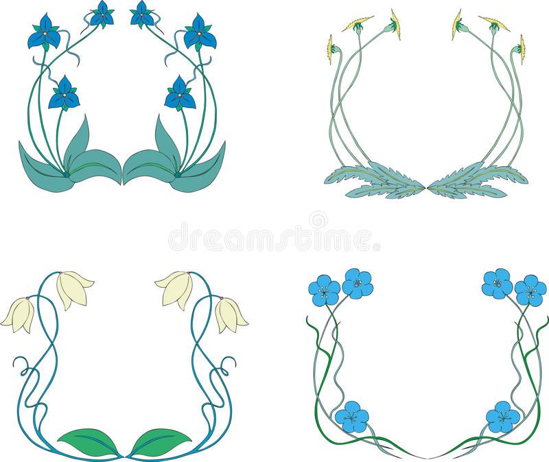 Flower Wreaths Royalty Free Stock Photography
