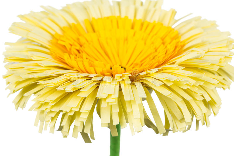 Flower of yellow paper royalty free stock photography