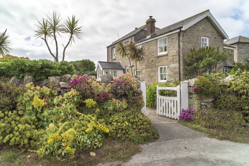 Flowerage Tresco, Scilly Isles royalty free stock images