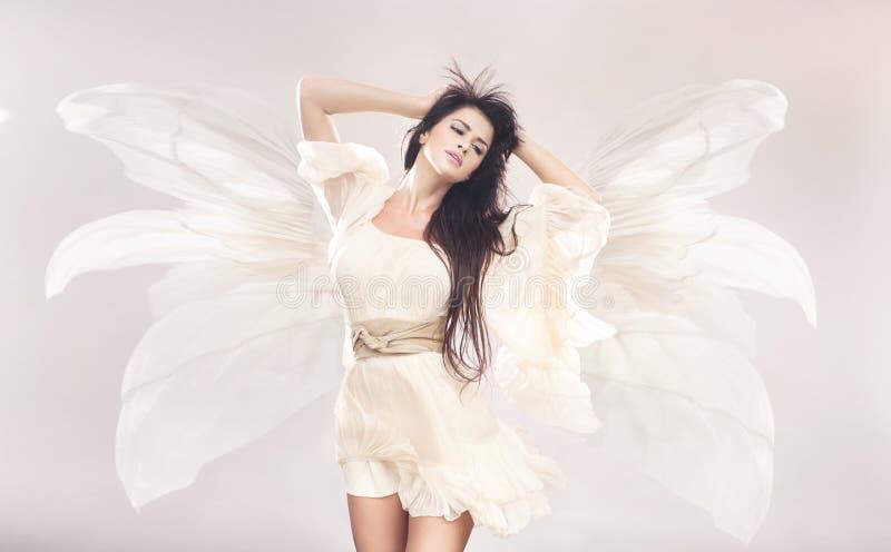 Download Flowerangel stock image. Image of brunette, elegance - 27370941