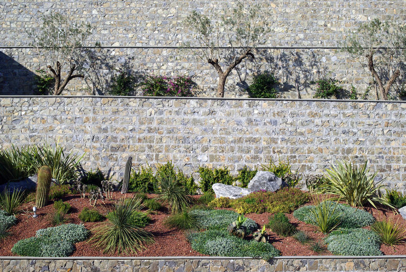 Flowerbed. The original construction of the flowerbed royalty free stock photo
