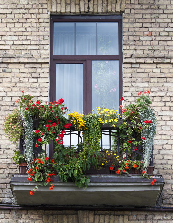 Download Flowered balcony stock image. Image of detail, italian - 25526049