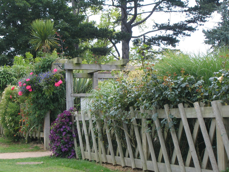 Flowered Fence royalty free stock photos