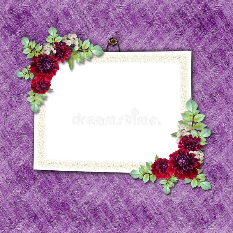 Flowered framework stock illustration