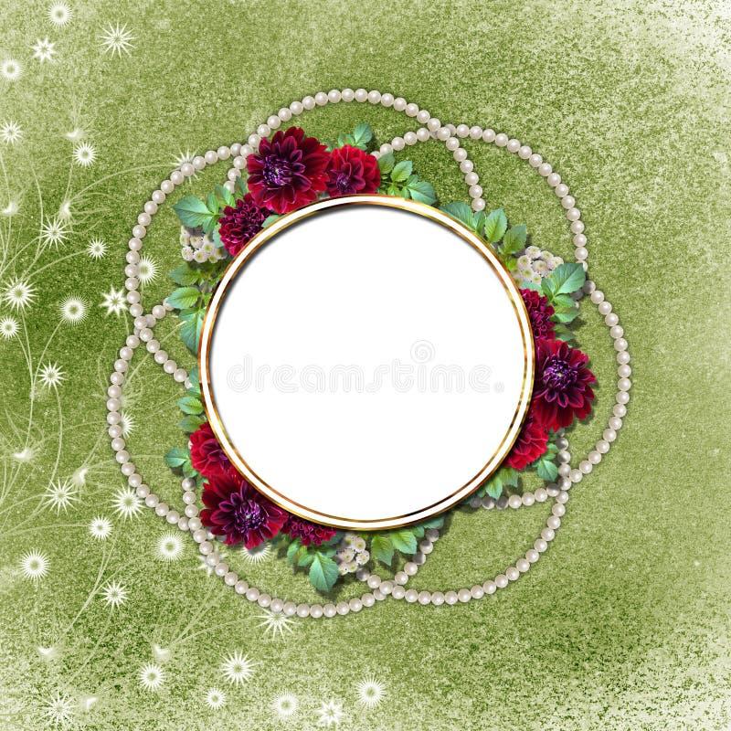 Flowered framework for greeting vector illustration