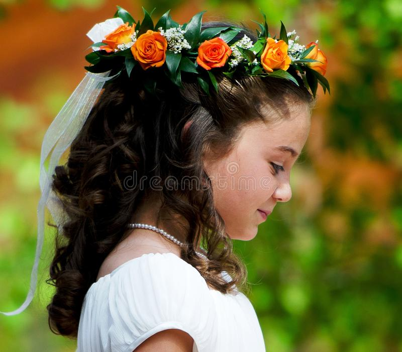 Flowergirl photo stock