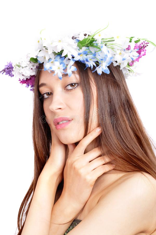 Flowergirl stock photos